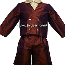 Style 212 Boys Ring Bearer Suit in Raisin and Bisque