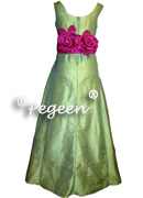 Flower Girl Dress 320 shown in sprite green and boing