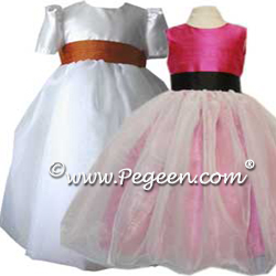 Organza flower girl Dresses 326
