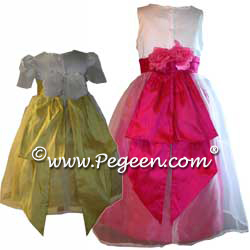 Silk Flower Girl Dresses 350