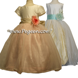 Flower Girl Dress in Silk and Organza 359
