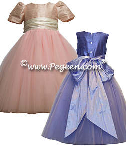Degas style 402 Tulle and silk flower girl dresses