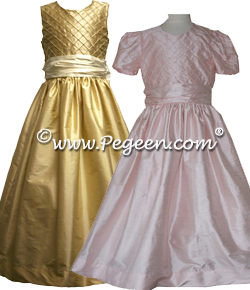 Pintuck and Pearls Flower Girl Dresses