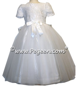 Aloncon lace White Communion Couture Dress Style 965