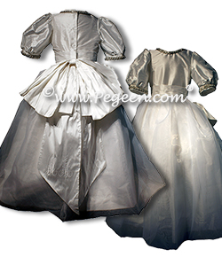 Rhinestones and Pearls Silk Organza Dress