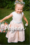 peach & blue flower girl dresses