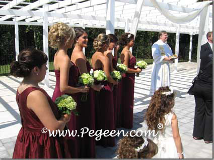 Jr bridesmaids dresses in Burgundy Style 398
