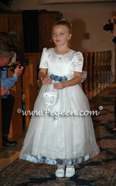 New Ivory and Petal flower girl dress