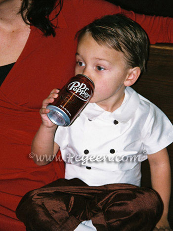 Boy's couture style ring bearer suit
