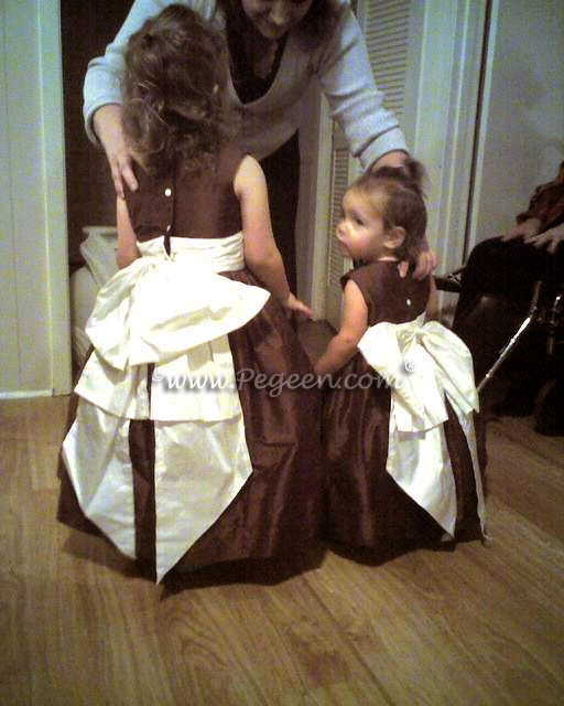 brown-flower-girl-dresses