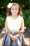Flower Girl Dresses of the Month in Ivory and Medium Gray
