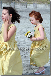 Flower Girl Dresses in Sunflower Yellow in Style 318