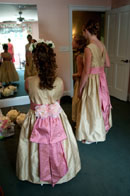 junior bridesmaid tulle dress