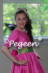 Bat Mitzvah Dress in Hot Pink and Lime Green