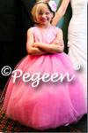 Flower Girl Dress in Pink and Black