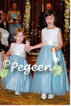 Aloncon Lace and Blue Tulle Flower Girl Dresses