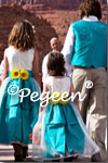 Flower Girl Dresses of the Month in Green and Navy