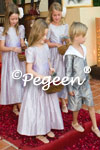 Flower Girl Dress in lilac with Gray boy's sailor suits