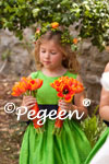 Flower Girl Dresses in Green and Navy Silk