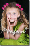 Flower Girl Dress of the Month, Flower Girl and Junior Bridesmaid Dress in Grass Green