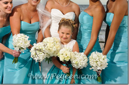 Matching Bill Levkoff  flower girl dresses by Pegeen
