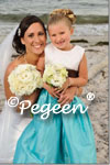 Flower Girl Dress in Tiffany and Black