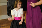 Black and Raspberry Silk flower girl dress with Pearled Bodice