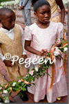 Flower Girl Dresses of the Month in Spun Gold and Petal Pink