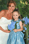 Silk Blue Custom Flower Girl Dress