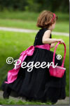 Black and Hot Pink Flower Girl Dress