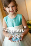Flower Girl Dress in Tiffany Blue and White Tulle