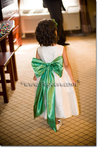 Clover Green green flower girl dresse