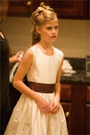 Brown Ivory Junior Bridesmaid Dress 398