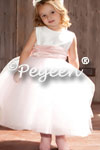 Flower Girl Dresses of the Month in White and Pink Silk