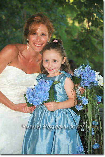 Flower Girl Dresses in Adriatic Silk