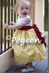 Flower Girl Dresses in Mustard and Red