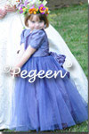 Flower Girl Dress in periwinkle
