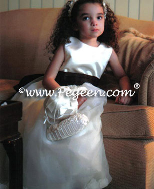 Pegeen Chocolate brown flower girl dresses