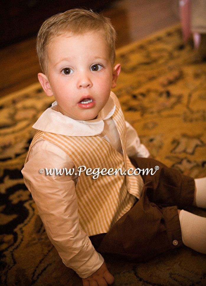 Boys silk ring bearer suit