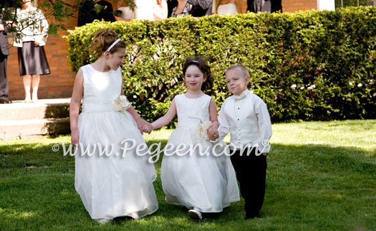 floor length flower girl dresses by Pegeen.com