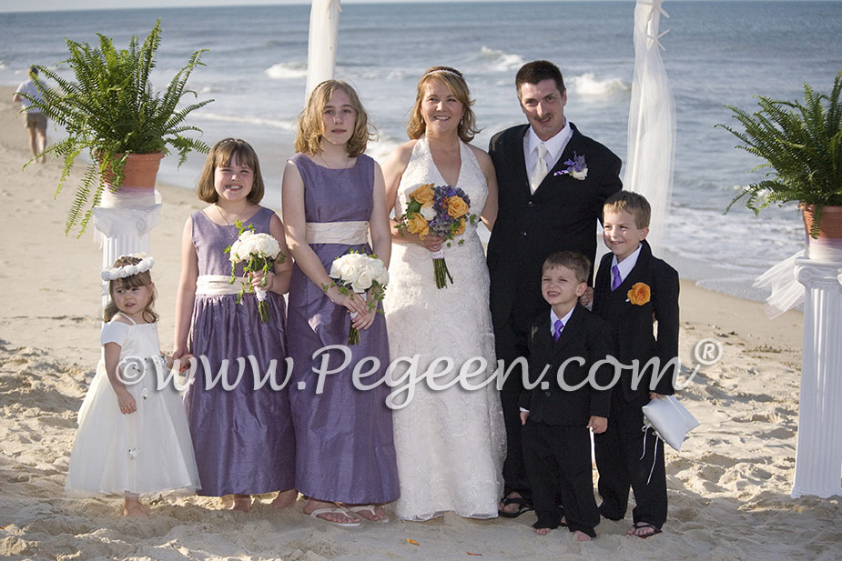 Euro Lilac flower girl dresses