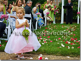Pink toddler flower girl dresses