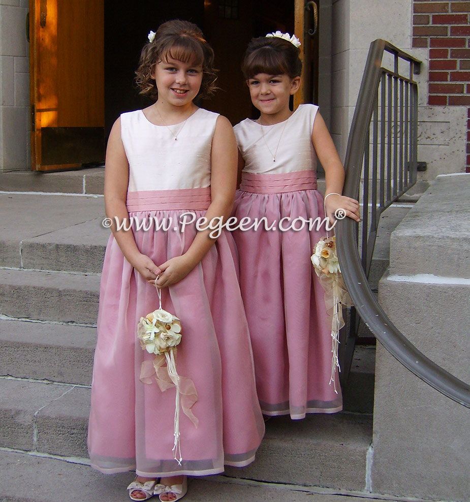 Pink and Mauve Pink Flower Girl Dresses