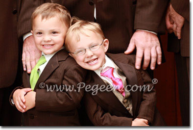 Boy's silk ties for Weddings by Pegeen