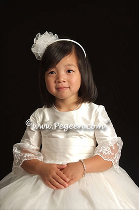 White Baptism Dress - Pegeen Regal Collection Style 694
