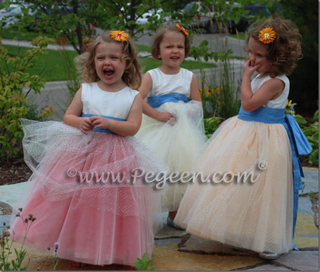 Pegeen Style 402 with Glitter tulle flower girl dresses for toddlers
