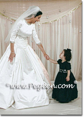 Black Toddler Flower Girl Dress  | Pegeen Classic Style 398