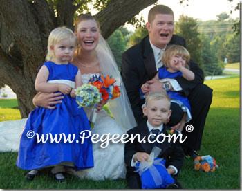 Blue indigo toddler flower girl dresses