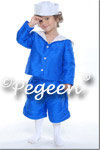 Boys's blue silk sailor suit