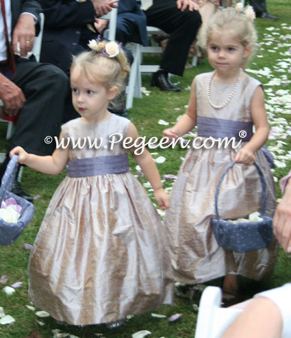 Latte and Lilac Toddler Flower Girl Dresses
